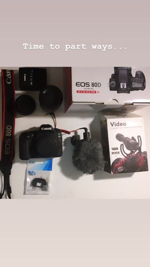 Canon 80d like new for Sale in Brooklyn, NY
