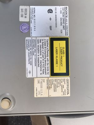 VTG Retro Sony CDU 7205 CD ROM Computer Drive Unit for Sale in Sebring, FL