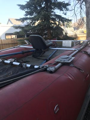 Aire raft 16' with Triton tilt snow machine trailer for Sale in Anchorage, AK
