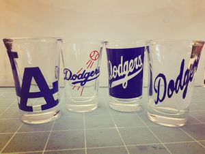Personalized Dodger Shot Glass Collection for Sale in Perris, CA