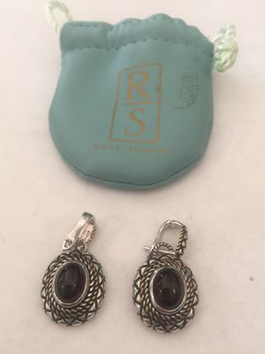 Ross an simons vintage sterling silver earrings with ruby stones for Sale in Las Vegas, NV