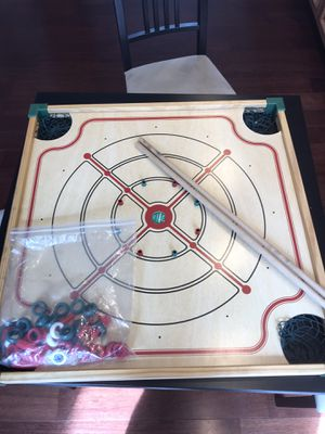 Crokinole, Carrom and other games board with all pieces for Sale in Menlo Park, CA