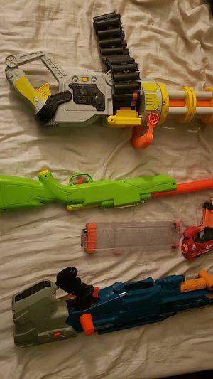 Gatling nerf gun with 3 other nerf guns for Sale in Pembroke Park, FL