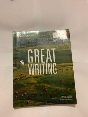 Great Writing (fourth edition) for Sale in Opa-locka, FL