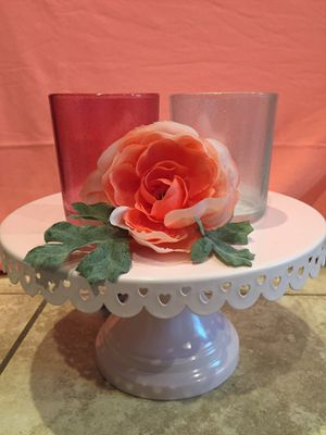 Two Beautiful Glitter Glass Candle Holder for Sale in Fontana, CA