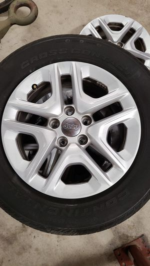 4 - 2018 jeep compass wheels and 3 tires. for Sale in Berlin, NJ