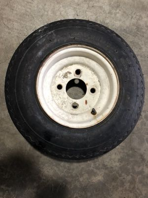 Trailer Tire. 4 Lug nuts. Size 4.8 - 8 Asking for $30 for Sale in Lynnwood, WA