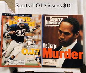 Sports Illustrated OJ Simpson 2 issues for Sale in Wellford, SC