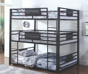 Triple Bunk Bed Available Twin Or Full for Sale in Massapequa,  NY