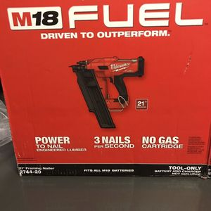 Milwaukee M18 Fuel 21 Degree Framing Nailer for Sale in Los Angeles, CA