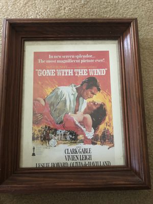 Gone with the wind picture in frame for Sale in Cleveland, OH