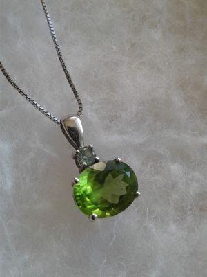Peridot and Alexandrite Necklace, Platinum over Sterling Silver for Sale in Woodbridge, VA