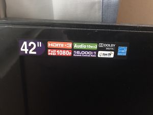 "42"" MAGNAVOX TV - HDML x3, Audio 10wx2, Dolby Digital, Full HD 1080p- for Sale in Garland, TX"