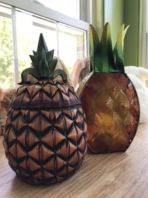Pineapple basket and candle holder for Sale in Ellington, CT