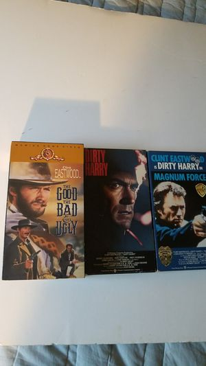 Clint Eastwood 3 vhs movies for Sale in Davie, FL