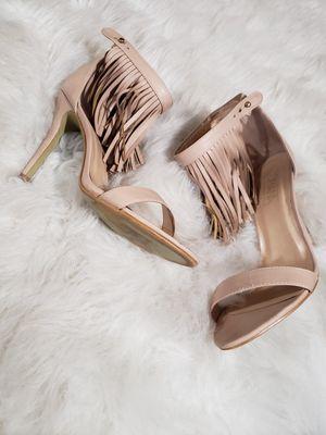 Womens tan fringe heels for Sale in Brooklyn Park, MD
