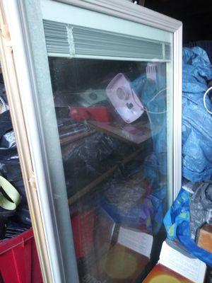 Nice door Center window with built-in screen good for Clubhouse a lady shed or garage door window for Sale in Warren, MI