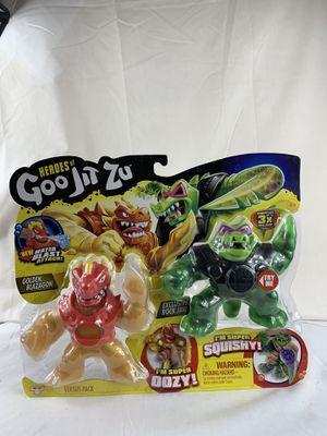 Heroes of Goo Jit Zu Golden Blazagon vs Rock Jaw Water Blast Versus Action Figur for Sale in Peoria, IL
