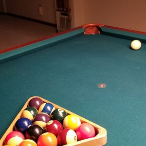 8ft Solid Wood Pool Table for Sale in Aurora, CO