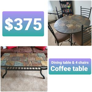 Ashley Furniture Dining Room Set & Coffee Table for Sale in PLYMOUTH MTNG, PA