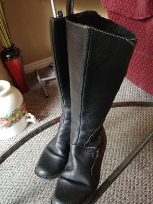 Clarks Sz 11 Ladies Black Riding Boots for Sale in Salt Lake City, UT
