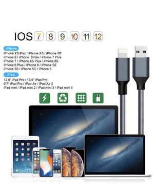 SHARLLEN iPhone Charger Cable Extra Long Lightning Cable 3/3/6/6/10FT 5 Pack Nylon Braided Fast iPhone Charging Cable Syncing Long Cord Compatible iP for Sale in Diamond Bar, CA