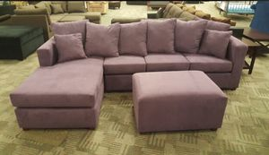 Sectional with ottoman! Made in the USA for Sale in Phoenix, AZ