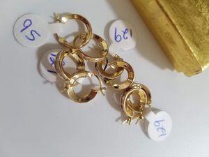 Argollitas para niñas oro 14k piedritas de colores for Sale in Manassas Park, VA