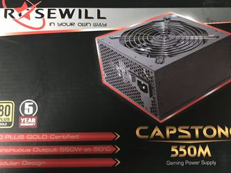 Rosewill Computer Gaming Power Supply, Modular 80 PLUS Gold 550W PC Desktop PSU for Sale in Spokane,  WA