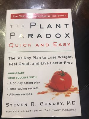 Dr.Gundry Plant Paradox book for Sale in West Covina, CA