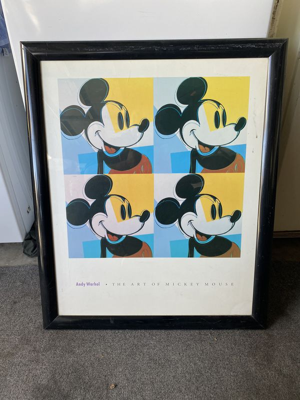 Andy Warhol the art of Mickey Mouse