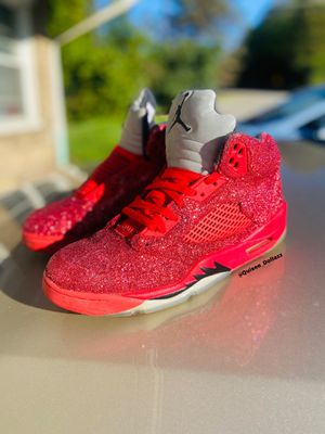 Jordan Red 5s glitter out for Sale in Butler, PA