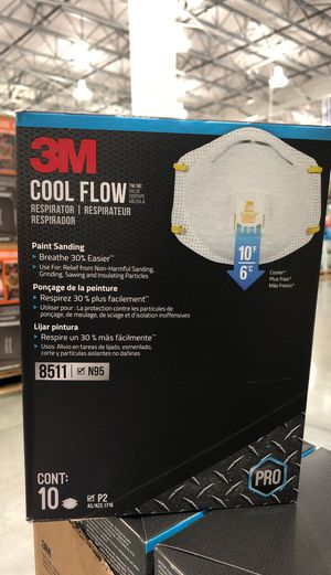 Face masks 3M cool flow 8511 N95 for Sale in CTY OF CMMRCE, CA