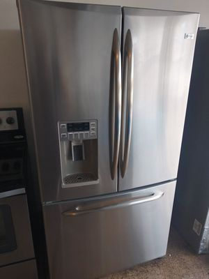 Stainless steel kitchen appliances French door refrigerator stove microwave and dishwasher excellent condition for Sale in Phoenix, AZ