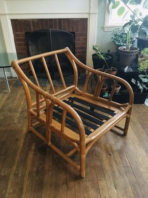 Vintage Ficks Reed Bamboo/Rattan Lounge Chair. for Sale in Berea, OH