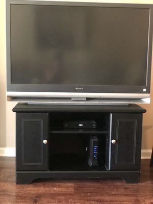Black Wooden Tv stand for Sale in Chapel Hill, NC