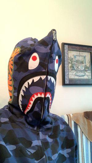 blue bape hoodie for Sale in Kissimmee, FL