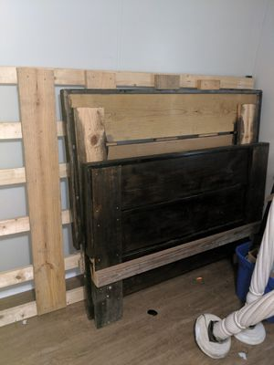 Wood bed frame for Sale in Wilmington, NC