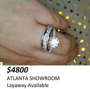 3 carat round diamond ring set for Sale in Atlanta, GA