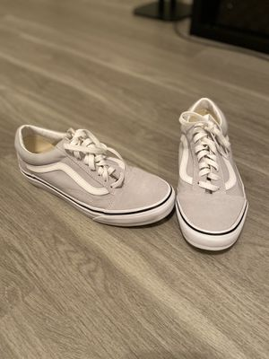 (Brand New!) Vans Old Skool in Gray Dawn/True White for Sale in Houston, TX