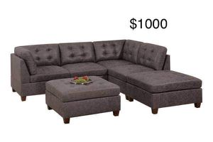 New Leather like fabric Sectional Couch only $50 down payment for Sale in Los Angeles, CA