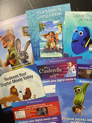Disney Digital Codes Sale- New Prices for Sale in Grundy, VA