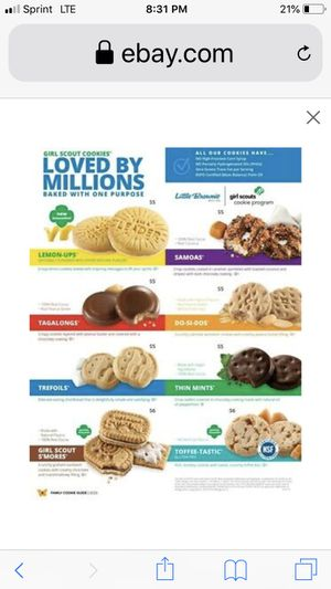 Girl Scout cookies for Sale in Los Angeles, CA