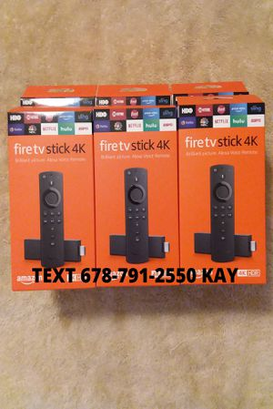 All New / Unlocked /4K HDR Amazon Fire TV Stick for Sale in Riverdale, GA
