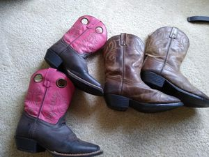 2 pairs Western boots size 3 for Sale in Lakeland, FL