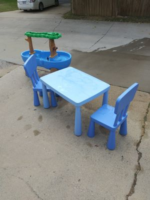 Kids table chairs and sandbox for Sale in Carrollton, TX