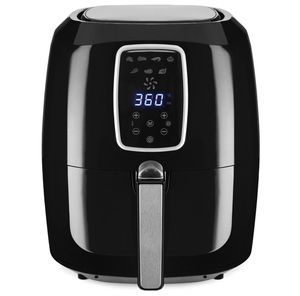 5.5qt 6-in-1 Digital Family Sized Air Fryer Kitchen Appliance w/ LCD Screen and Non-Stick Fryer Basket, Black for Sale in Brooklyn, OH