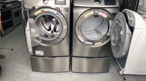 Samsung Stainless Steel Washer & Gas Dryer Set for Sale in Rancho Santa Fe, CA