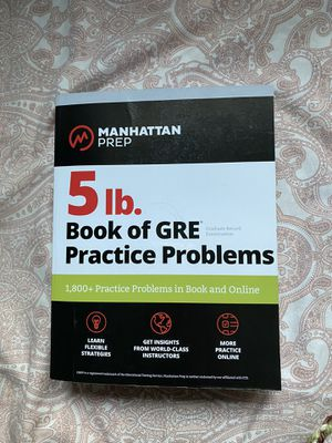 GRE Practice books for Sale in Los Angeles, CA