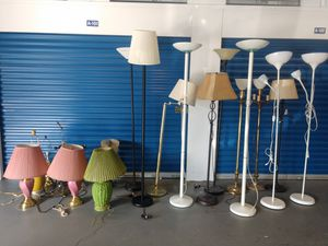 $7 each floor and table lamps for Sale in Mount Rainier, MD